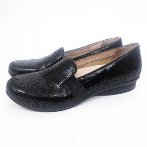 Dansko Addy Crackle Suede Leather Black 11.5